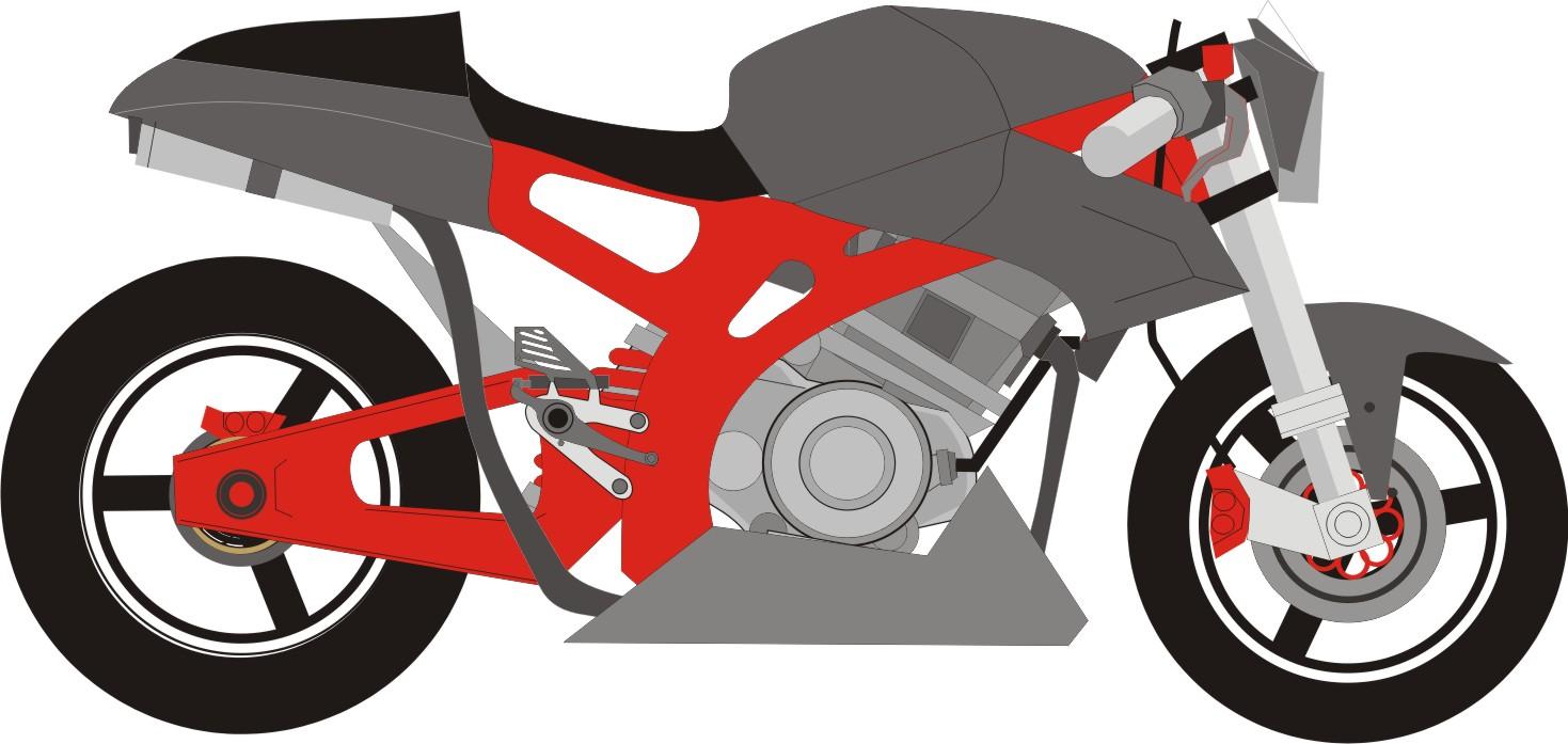 Gambar Sketsa Motor Drag