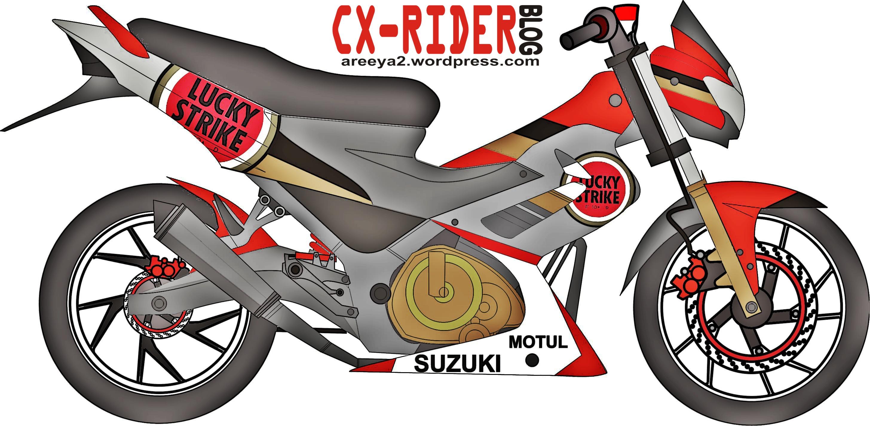 Gambar Kartun Motor Satria Galeriotto