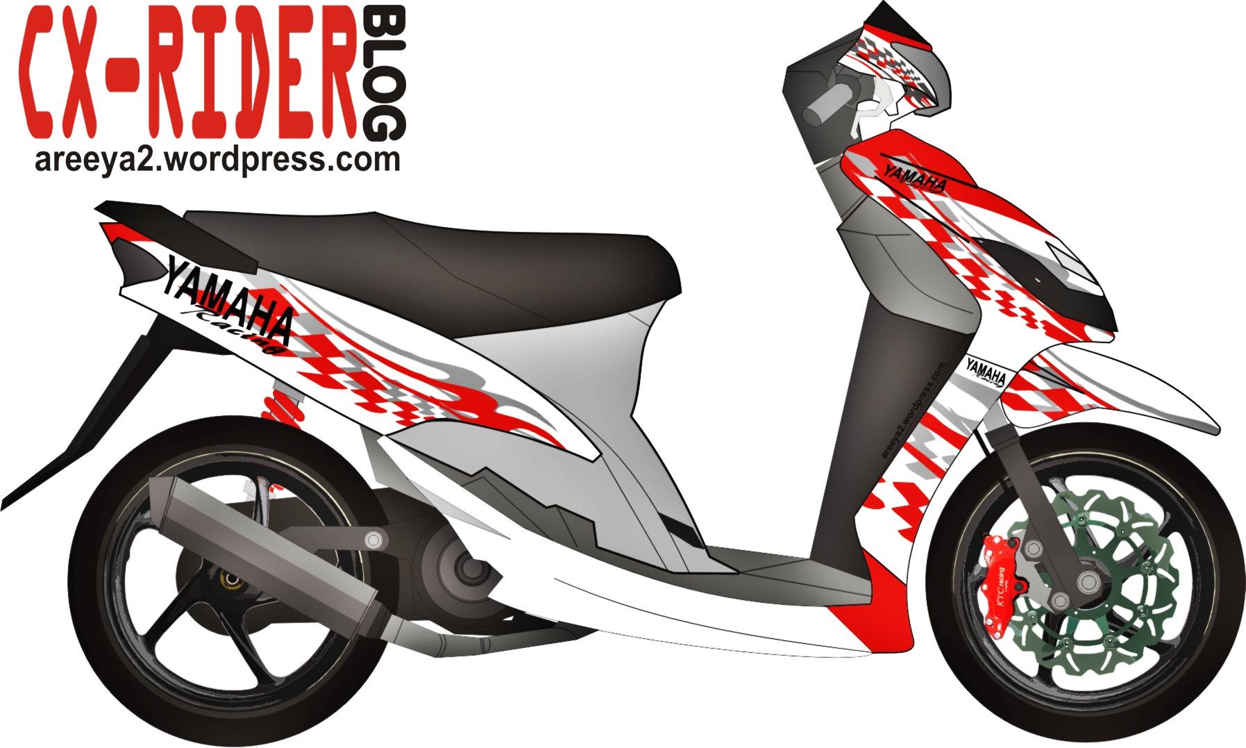 Koleksi modifikasi motor mio dengan stiker terbaru