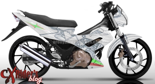 striping-satria-new-gray