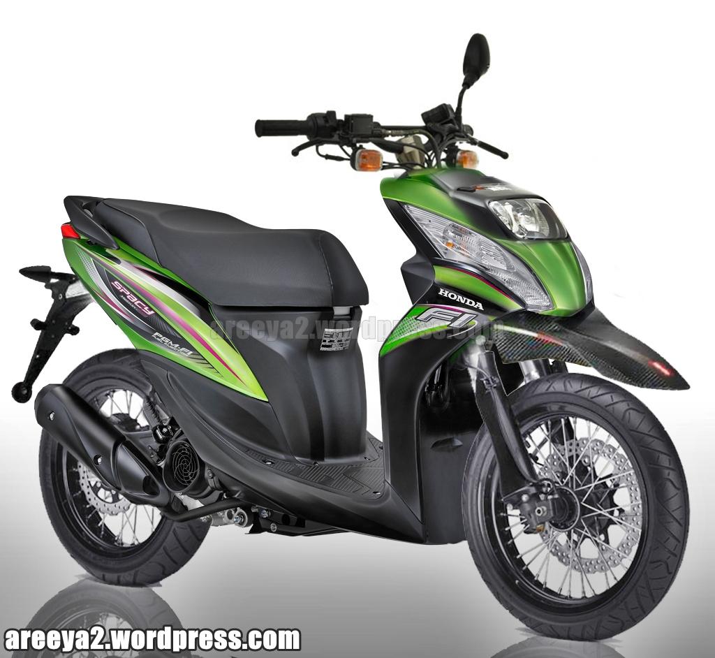 Koleksi Modifikasi Motor Matic Supermoto Terlengkap Kampong Motor