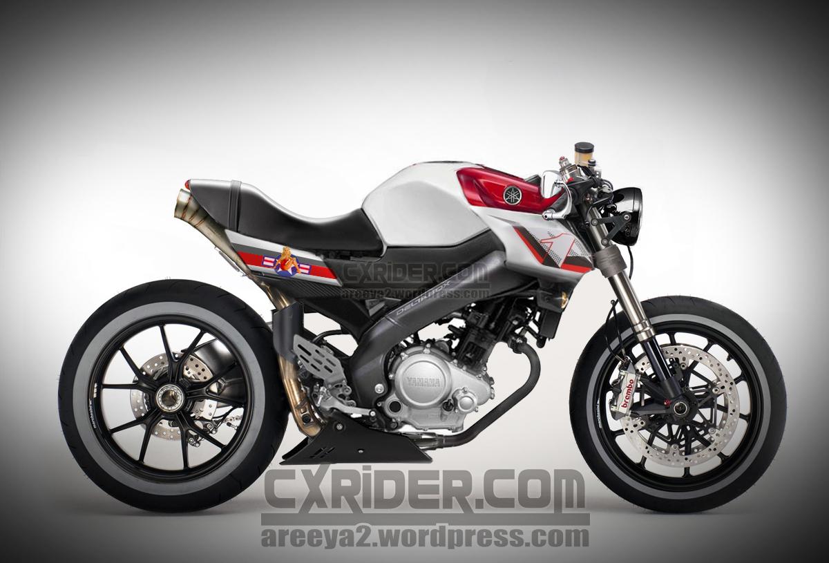 Koleksi Modifikasi New Vixion Cafe Racer Terbaru Kampong Motor