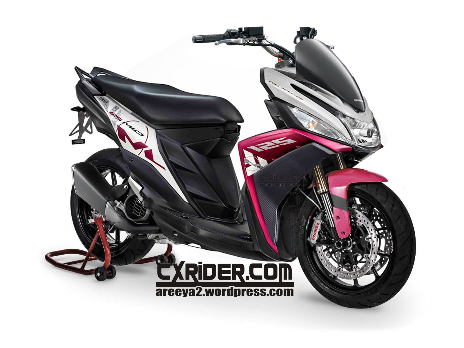 terbaru modifikasi yamaha mio m3 125 blue core